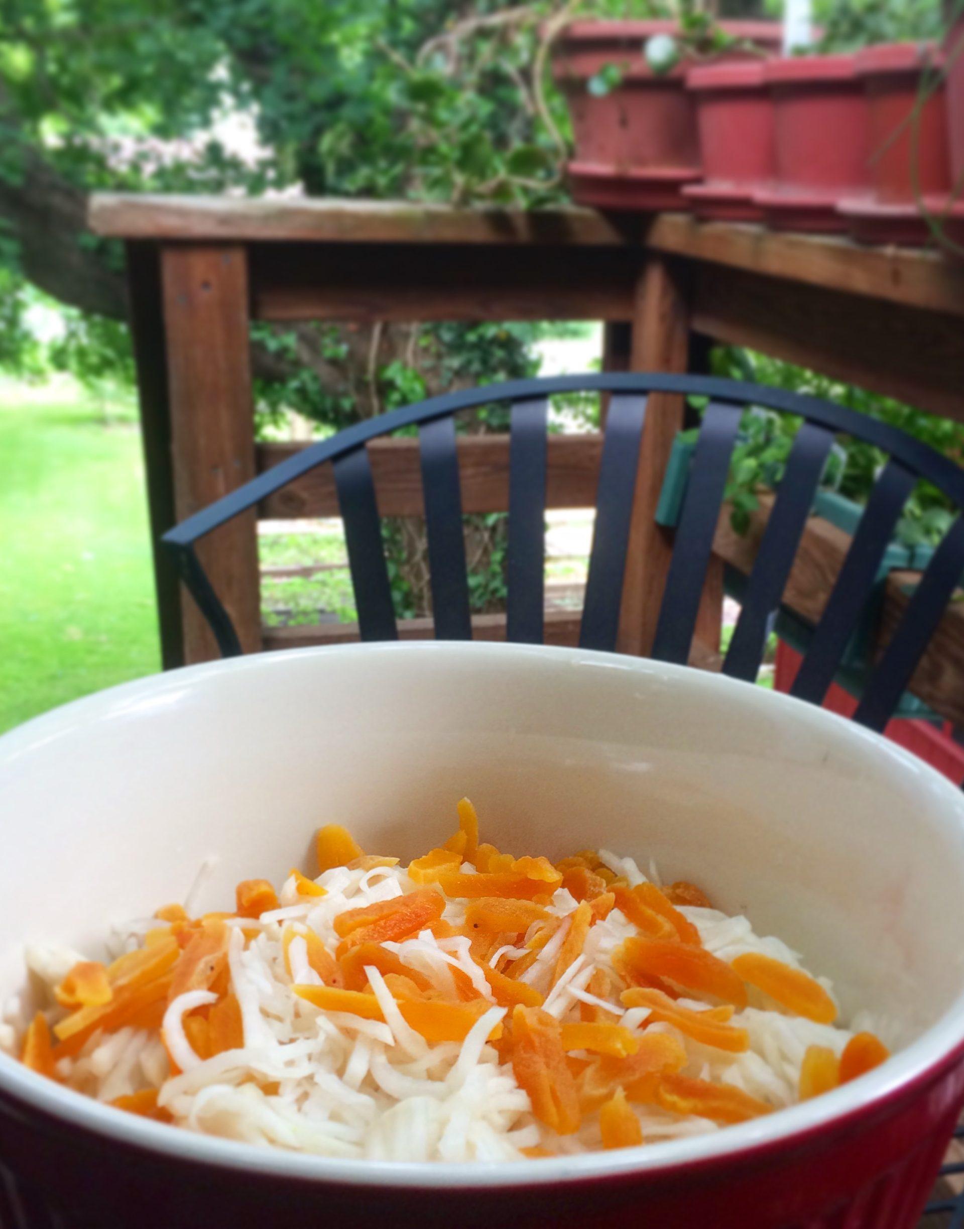 Turnip and Apricot Salad