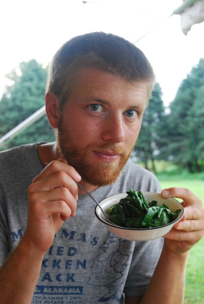 Stefan with Collards