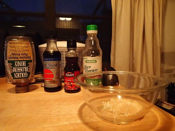 Bok Choy Vinaigrette Ingredients