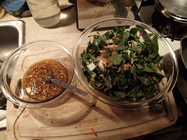 Bok Choy Salad, Two Bowls