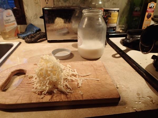 Steamed Cauliflower Grated Cheese