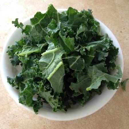 Kale on Eggs, Bowlful of Kale