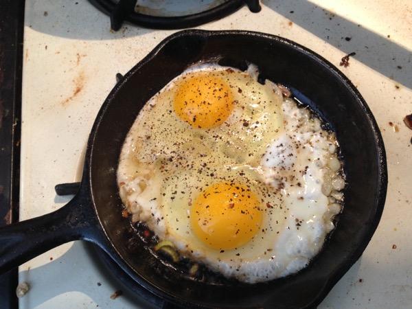 Kale on Eggs, Eggs