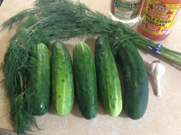 Dill Pickles, Ingredients